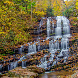 Pearson Falls Fall 2014 by Marc Novell - Landscapes Waterscapes ( water, saluda, waterfall, fall )