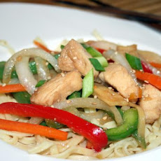 Teriyaki Linguine With Chicken