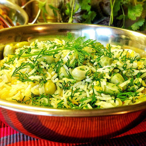Polow (Persian Rice With Pistachios And Dill) Recipes — Dishmaps