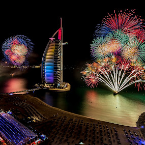 NYE Dubai by Jaideep Abraham - Public Holidays New Year's Eve ( guiness record, 2014, dubai, celebrations, uae, burj al arab, fireworks )