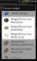Screenshot of Widget Phone Free - Call log