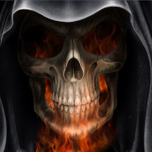 超酷地狱火骷髅动态壁纸 個人化 App LOGO-APP試玩