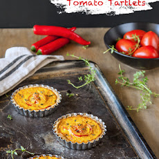 Harissa, Feta and Tomato Tartlets