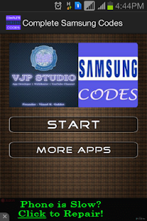 Complete Samsung Codes - screenshot