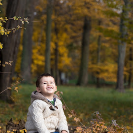 Sunshine by Ciprian Obrad - Babies & Children Child Portraits ( magic, autumn, outdoor, child portrait, children, candid, childhood )