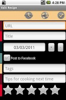 Screenshot of Mibori Recipe Organizer