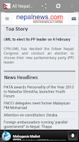Screenshot of All Newspaper of Nepal