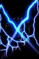 Screenshot of Electric X Blue Live Wallpaper
