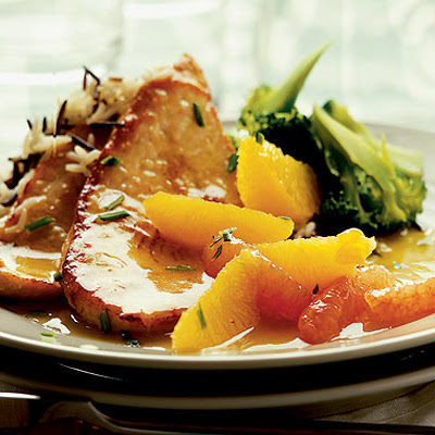 Turkey Steaks With Citrus & Ginger Sauce