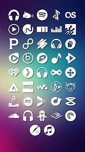 Media Icons Komponent - screenshot