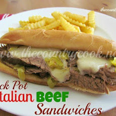 Crock Pot Italian Beef Sandwiches