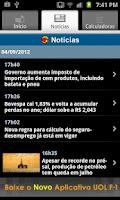 Screenshot of UOL Cotações