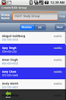 Screenshot of Group SMS&MMS + Forward/Twitt