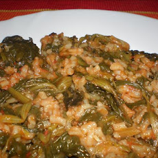 Spanakorizo (A Greek Spinach Risotto)