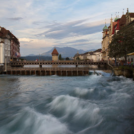 Lucerne by Alik Zlotnik - City,  Street & Park  Historic Districts ( stream, switzerland, lucerne )