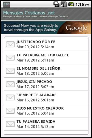 mensajes-cristianos for android screenshot
