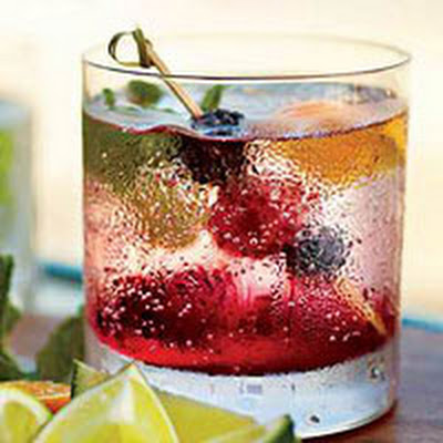 Blackberry Cooler Cocktail
