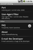 Screenshot of AndroidTether Lite