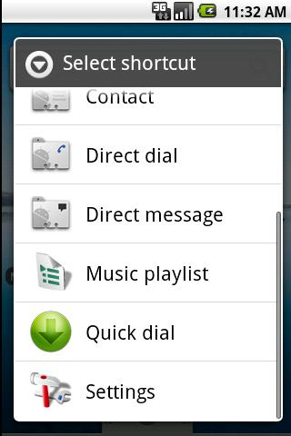 How to add direct call and direct message shortcuts to the home ...