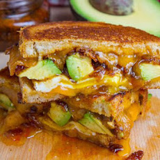 Bacon Jam and Avocado Grilled Cheese Sandwich