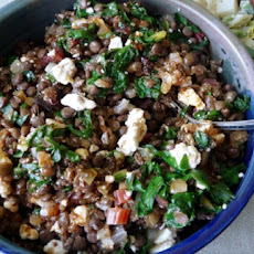 Spinach and Lentil Salad With Oregon Blue Cheese and Tart Cherry