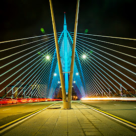 by Andy Teoh - Buildings & Architecture Bridges & Suspended Structures ( putrajaya, atp, bridge, nightscape, andyteoh photography )