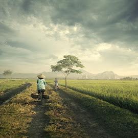 My Simple Village by Ipoenk Graphic - Digital Art Things