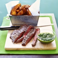 Flank Steak with Parsley-Garlic Sauce