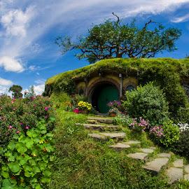 Bilbo Baggin's Home by Indrawaty Arifin - Buildings & Architecture Public & Historical ( farm, home, movie, hobbit,  )