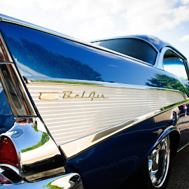57 Bel Air by Jacqueline Manning - Transportation Automobiles ( 57 chevy, classic car, 1957, blue car, 57 bel air )