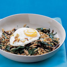 Orzo and Spinach Hash