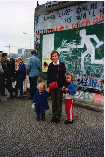 The Millar family stand at what has now beome an open frontier in early December 1989