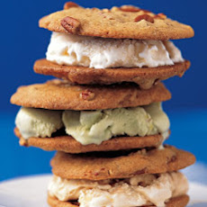 Pecan-Cookie Ice-Cream Sandwiches