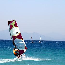 In The Wind by Jennifer Hawkins - Sports & Fitness Watersports