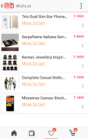 Screenshot of HomeShop18 Mobile