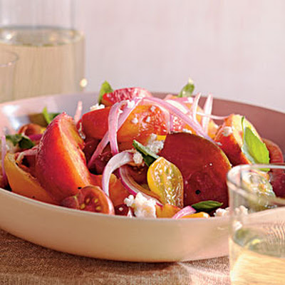 Summer Peach and Tomato Salad