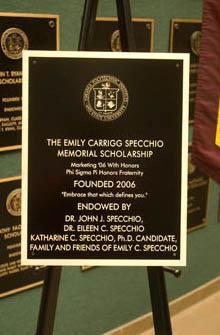 Scholarship Plaque