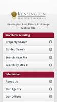 Screenshot of Kensington Real Estate Mobile