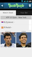 Screenshot of US Open Tennis Live scores