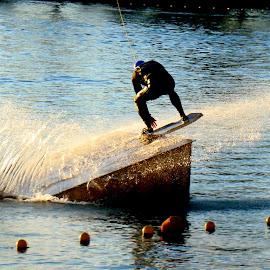 Jump by Tihomir Beller - Sports & Fitness Watersports ( water, jumping, watersii, sport, lake )