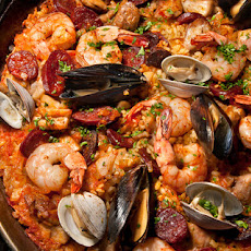 Grilled Paella Mixta (Paella with Seafood and Meat) Recipe