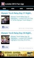 Screenshot of London 2012 News & Videos