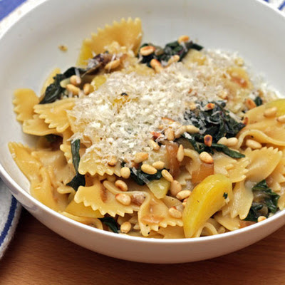Jeanne Thiel Kelley's Farfalle with Golden Beets and Pine Nuts