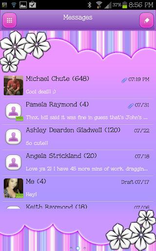 GO SMS - Pastel Stripes 2