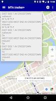 Screenshot of MTA tracker