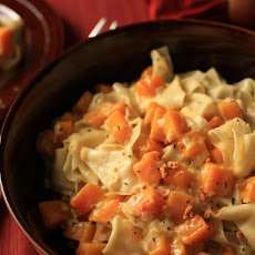 Fresh Pappardelle with Butternut Squash and Thyme Cream Sauce Recipe