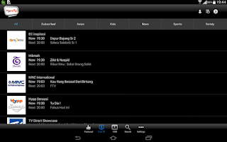 Screenshot of HyppTV Everywhere (tablet)