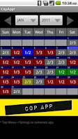 Screenshot of CopApp ! Calendar Schedule