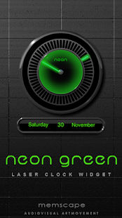 How to download NEON GREEN Laser Clock Widget patch 2.50 apk for bluestacks