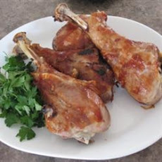Roasted Barbecued Turkey Legs